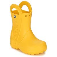 鞋子 兒童 雨靴 crocs 卡駱馳 HANDLE IT RAIN BOOT KIDS 黃色