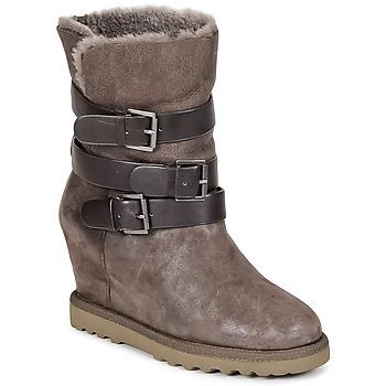 鞋子 女士 短靴 Ash 艾熙 YES 灰褐色