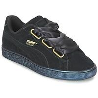 鞋子 女士 球鞋基本款 Puma 彪马 BASKET HEART SATIN WN'S 黑色