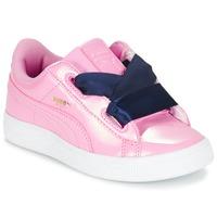 鞋子 女孩 球鞋基本款 Puma 彪马 BASKET HEART PATENT PS 玫瑰色 / 海蓝色