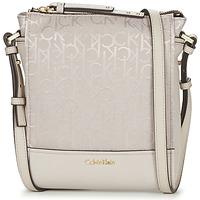 包 女士 斜挎包 Calvin Klein Jeans MARINA LOGO FLAT CROSSBODY 米色