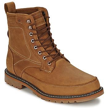 鞋子 男士 短筒靴 Timberland 添柏岚 6IN MIXED MEDIA WP 橙红色 / 黄色