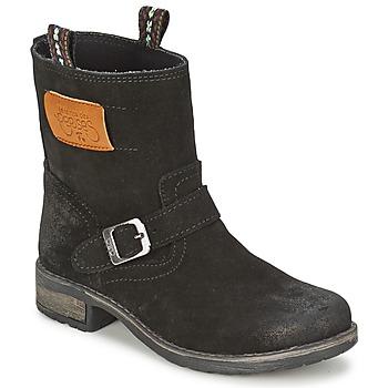 鞋子 女孩 短筒靴 Le Temps des Cerises JUNIOR ALOE 黑色