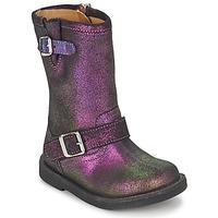 鞋子 女孩 都市靴 Pom d'Api 朋大芘 HIKE BIKER 紫罗兰