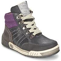 鞋子 男孩 高帮鞋 Garvalin TOMAS 灰色 / 紫罗兰