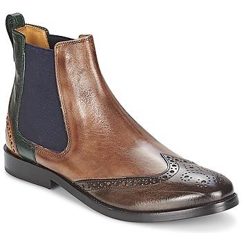 鞋子 女士 短筒靴 Melvin & Hamilton AMÉLIE 5 棕色 / 绿色 / 黄色