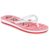 鞋子 女孩 人字拖 Roxy 罗克西 RG PEBBLES V G SNDL BRE 红色 / 白色 / 黑色
