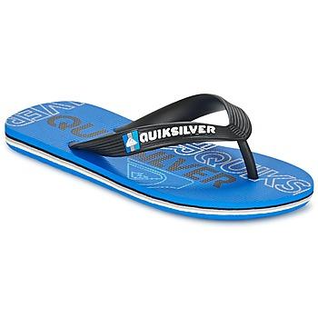 鞋子 儿童 人字拖 Quiksilver 极速骑板 MOLOKAI NITROYT 黑色 / 蓝色
