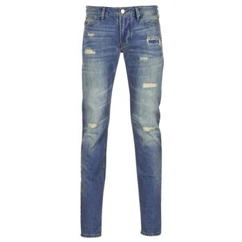 衣服 男士 紧身牛仔裤 Armani jeans NAKAJOL 蓝色