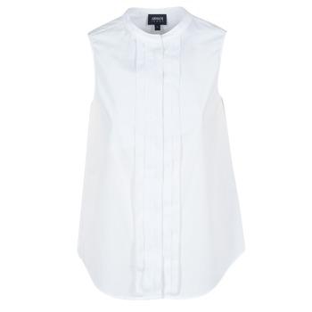 衣服 女士 襯衣/長袖襯衫 Armani jeans GIKALO 白色