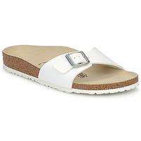 鞋子 女士 休闲凉拖/沙滩鞋 Birkenstock 勃肯 MADRID 白色 /  mat