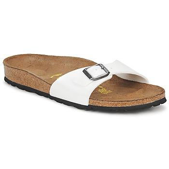 鞋子 女士 休閑涼拖/沙灘鞋 Birkenstock 勃肯 MADRID 白色 / Nacre