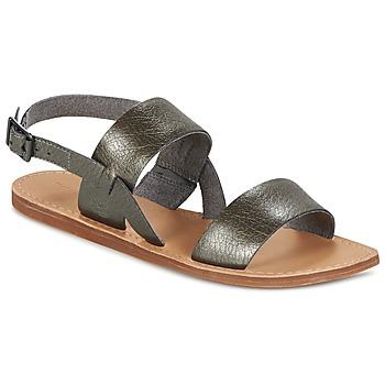 鞋子 女士 凉鞋 Timberland 添柏岚 CAROLISTA SLINGBACK 灰色