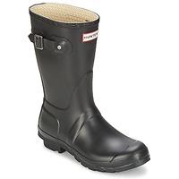 鞋子 女士 雨靴 Hunter 赫特威灵頓 WOMEN'S ORIGINAL SHORT 黑色