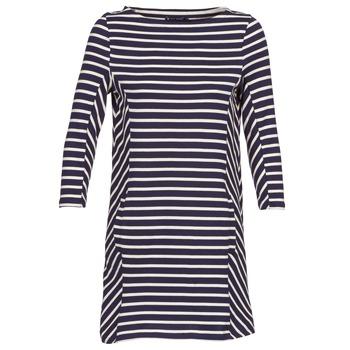 衣服 女士 短裙 Petit Bateau 小帆船 LESS 海蓝色 / 米色