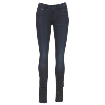 衣服 女士 牛仔铅笔裤 G-Star Raw 3301 HIGH SKINNY 蓝色