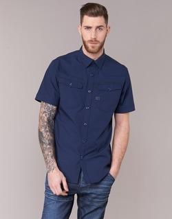 衣服 男士 短袖衬衫 G-Star Raw 3301 SHIRT 海蓝色