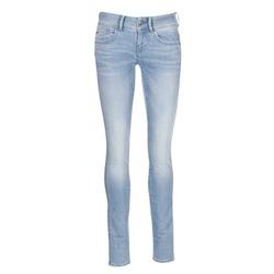 衣服 女士 牛仔铅笔裤 G-Star Raw LYNN MID SKINNY 蓝色 / 米色