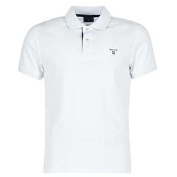 衣服 男士 短袖保罗衫 Gant CONTRAST COLLAR PIQUE 白色
