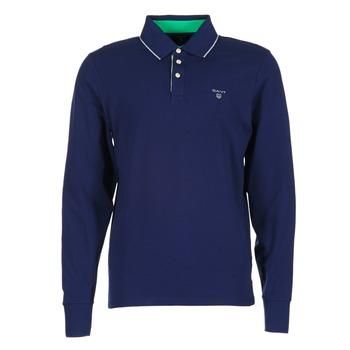 衣服 男士 長袖保羅衫 Gant 3-COL CONTAST RUGGER 海藍色