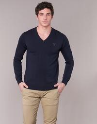 衣服 男士 羊毛衫 Gant WEIGHT COTTON V NECK 海蓝色