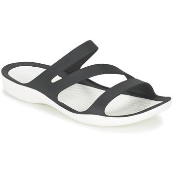鞋子 女士 凉鞋 crocs 卡骆驰 SWIFTWATER SANDAL W 黑色 / 白色