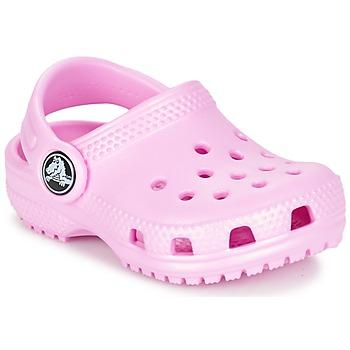鞋子 女孩 洞洞鞋/圆头拖鞋 crocs 卡骆驰 Classic Clog Kids 玫瑰色