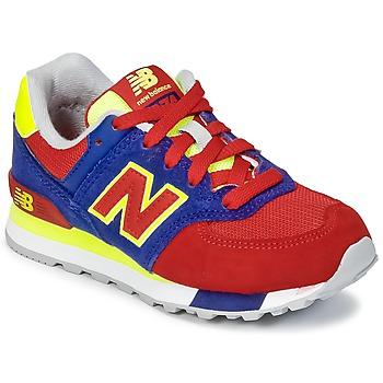 鞋子 儿童 球鞋基本款 New Balance新百伦 KL574 蓝色 / 红色 / 黄色