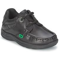 鞋子 儿童 船鞋 Kickers REASON LACE 黑色