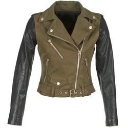 衣服 女士 皮夹克/ 人造皮革夹克 Diesel 迪赛尔 L-LUPUS-C 卡其色 / 黑色