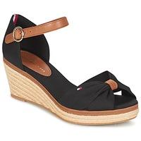鞋子 女士 涼鞋 Tommy Hilfiger ELBA 40D 黑色 / 棕色