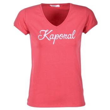 衣服 女士 短袖体恤 Kaporal NIAM 玫瑰色