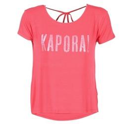 衣服 女士 短袖体恤 Kaporal NIZA 玫瑰色