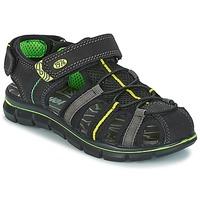 鞋子 男孩 凉鞋 Primigi TEVEZ 黑色 / 绿色