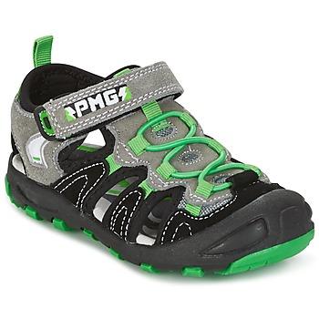 鞋子 男孩 凉鞋 Primigi CROSS 黑色 / 绿色