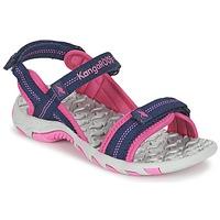 鞋子 女孩 运动凉鞋 Kangaroos MUSER 海蓝色 / 玫瑰色