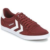 鞋子 球鞋基本款 Hummel STADIL CANEVAS LOW 波尔多红