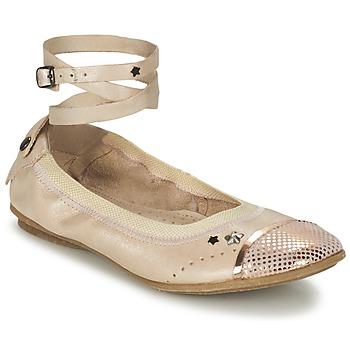 鞋子 女孩 平底鞋 Ikks EMILY 米色 / 玫瑰色