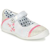 鞋子 女孩 平底鞋 Catimini PIPISTRELLE 银色 / 珊瑚色