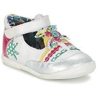 鞋子 女孩 平底鞋 Catimini PANTHERE 白色 / 银色