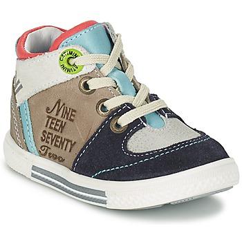 鞋子 男孩 高幫鞋 Catimini PIMENT 灰色 / 松石綠