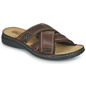 鞋子 男士 休闲凉拖/沙滩鞋 TBS BENAIX 棕色
