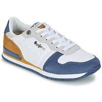 鞋子 女士 球鞋基本款 Pepe jeans GABLE ANGLAISE SOUL 白色 / 蓝色 / 灰色