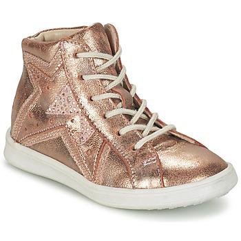 鞋子 女孩 高帮鞋 GBB PRUNELLA 玫瑰色 / 金色