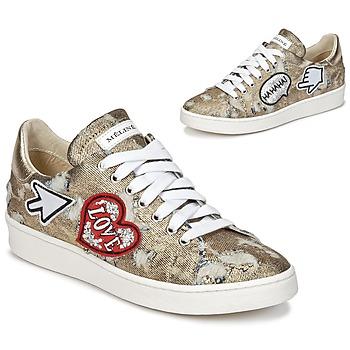 鞋子 女士 球鞋基本款 Meline QOLI 金色