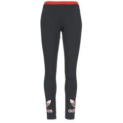 衣服 女士 紧身裤 Adidas Originals 阿迪达斯三叶草 TREFOIL LEGGING 黑色 / 玫瑰色