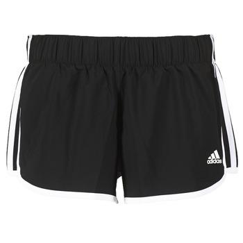 衣服 女士 短裤&百慕大短裤 adidas Performance 阿迪达斯运动训练 M10 SHORT WOVEN 黑色