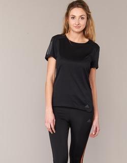 衣服 女士 短袖体恤 adidas Performance 阿迪达斯运动训练 RS SS TEE W 黑色