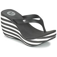 鞋子 女士 人字拖 Zaxy LIPSTICK V 黑色 / 白色