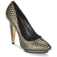 鞋子 女士 高跟鞋 Roberto Cavalli 罗伯特·卡沃利 YDS622-UC168-D0007 黑色 / 金色